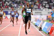 Caster Semnya (RSA) wins the women's 800m in 1:54.98 during the IAAF Doha Diamond League 2019 at Khalifa International Stadium, Friday, May 3, 2019, in Doha, Qatar