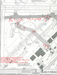 Keymap for Taxiway 'C' Rehabilitation at Bradley International Airport. CT DOT Project # 165-435. Pre-Construction View. Refer to this Keymap for Camera Location and Direction of images taken on this date...