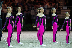Team SUI, Will Be Good, Monika Winkler  - Squad Freestyle Vaulting - Alltech FEI World Equestrian Games™ 2014 - Normandy, France.<br /> © Hippo Foto Team - Jon Stroud<br /> 03/09/2014