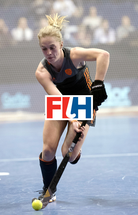 BERLIN - Indoor Hockey World Cup<br /> SF1 Netherlands - Ukraine<br /> foto: Elin van Erk  <br /> WORLDSPORTPICS COPYRIGHT FRANK UIJLENBROEK
