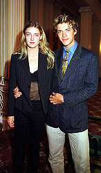 MISS EVA RICE and her brother MR DONALD RICE children of Sir Tim Rice, at a luncheon in London on 7th September 1999.MUX 63