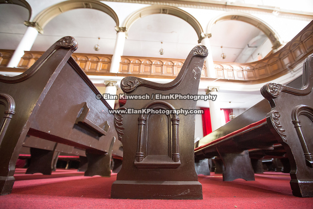 First Haitian Baptist Church, the building that formally housed the Blue Hill Avenue Synagogue in the Dorchester neighborhood of Boston is seen on September 1, 2014 in Boston, Massachusetts. (Photo by Elan Kawesch/The Times of Israel)
