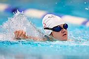 Katowice, Poland - 2018 June 11: Special Olympics Athlete Kaja Micorek competes in women's freestyle 25m swimming competition during National Special Olympics Games 2018 at AWF Katowice on June 11, 2018 in Katowice, Poland.<br /> <br /> Adam Nurkiewicz declares that he has no rights to the image of people at the photographs of his authorship.<br /> <br /> Picture also available in RAW (NEF) or TIFF format on special request.<br /> <br /> Any editorial, commercial or promotional use requires written permission from the author of image.<br /> <br /> Image can be used in the press when the method of use and the signature does not hurt people on the picture.<br /> <br /> Mandatory credit:<br /> Photo by &copy; Adam Nurkiewicz / Mediasport
