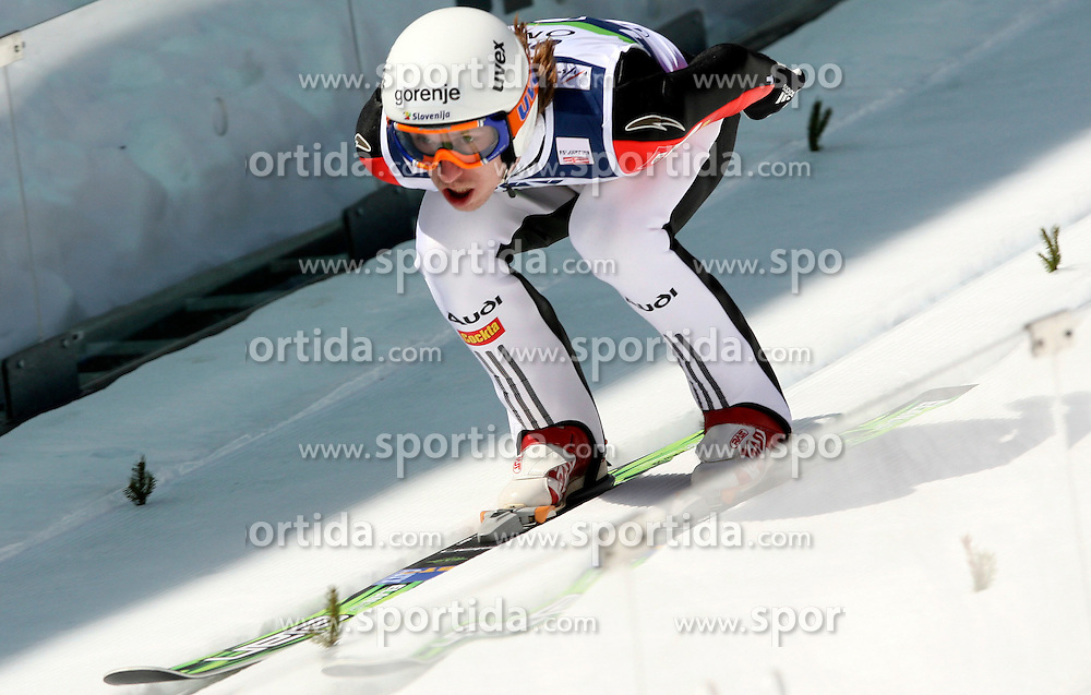 Primoz Pikl (SLO) at Flying Hill Individual in 4th day of 32nd World Cup Competition of FIS World Cup Ski Jumping Final in Planica, Slovenia, on March 22, 2009. (Photo by Vid Ponikvar / Sportida)