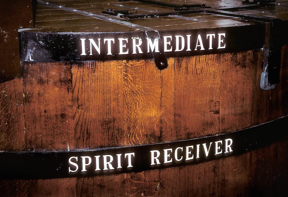 "Dallas Dhu distillery barrel label: ""Intermediate Spirit Receiver"""