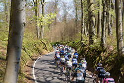 Weaving through the trees on Stage 2 of Festival Elsy Jacobs 2017. A 111.1 km road race on April 30th 2017, starting and finishing in Garnich, Luxembourg. (Photo by Sean Robinson/Velofocus)