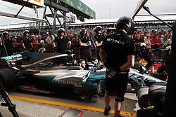 July 13, 2017 - Silverstone, Great Britain - Motorsports: FIA Formula One World Championship 2017, Grand Prix of Great Britain, .. Mechanic of Mercedes AMG Petronas F1 Team during pit stop training  (Credit Image: © Hoch Zwei via ZUMA Wire)