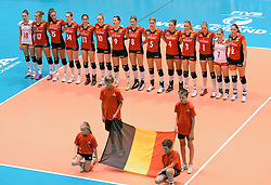 10-08-2014 NED: FIVB Grand Prix Belgie - Puerto Rico, Doetinchem<br /> Line up Belgie
