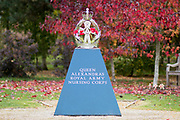 The Queen Alexandra's Royal Army Nursing Corps Memorial at the National Memorial Arboretum, Croxall Road, Alrewas, Burton-On-Trent,  Staffordshire, on 29 October 2018. Picture by Mick Haynes.