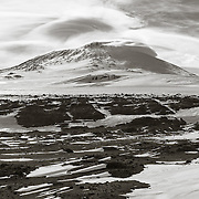 12,400 ft Mount Erebus from Wind Vane Hill, Cape Evans, Antarctica.