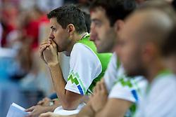 Bostjan Nachbar of Slovenia during friendly match between National teams of Slovenia and Montenegro for Eurobasket 2013 on August 23, 2013 in Arena Bonifika, Koper, Slovenia. (Photo by Matic Klansek Velej / Sportida.com)