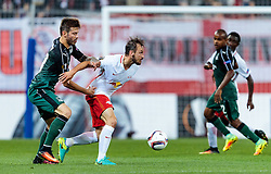 15.09.2016, Red Bull Arena, Salzburg, AUT, UEFA EL, FC Red Bull Salzburg vs FC Krasnodar, Gruppe I, 1. Runde, im Bild Fedor Smolov (FC Krasnodar), Andreas Ulmer (FC Red Bull Salzburg) // during the UEFA Europa League, group I, 1st round match between FC Red Bull Salzburg and FC Krasnodar at the Red Bull Arena in Salzburg, Austria on 2016/09/15. EXPA Pictures © 2016, PhotoCredit: EXPA/ JFK