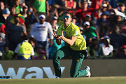 Dwaine Pretorius drops a catch during the International T20 match between South Africa and England at Supersport Park, Centurion, South Africa on 16 February 2020.