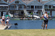 "Henley on Thames, United Kingdom, 2nd July 2018, Monday,   ""Henley Royal Regatta"",  view, Competitors getting early training in on Henley Reach, River Thames, Thames Valley, England, © Peter SPURRIER/Alamy Live News,/Alamy Live News,"