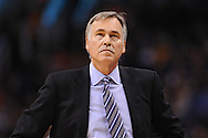 Dec 23, 2013; Phoenix, AZ, USA; Los Angeles Lakers head coach Mike D'Antoni on the sidelines against the Phoenix Suns at US Airways Center. The Suns won 117-90. Mandatory Credit: Jennifer Stewart-USA TODAY Sports