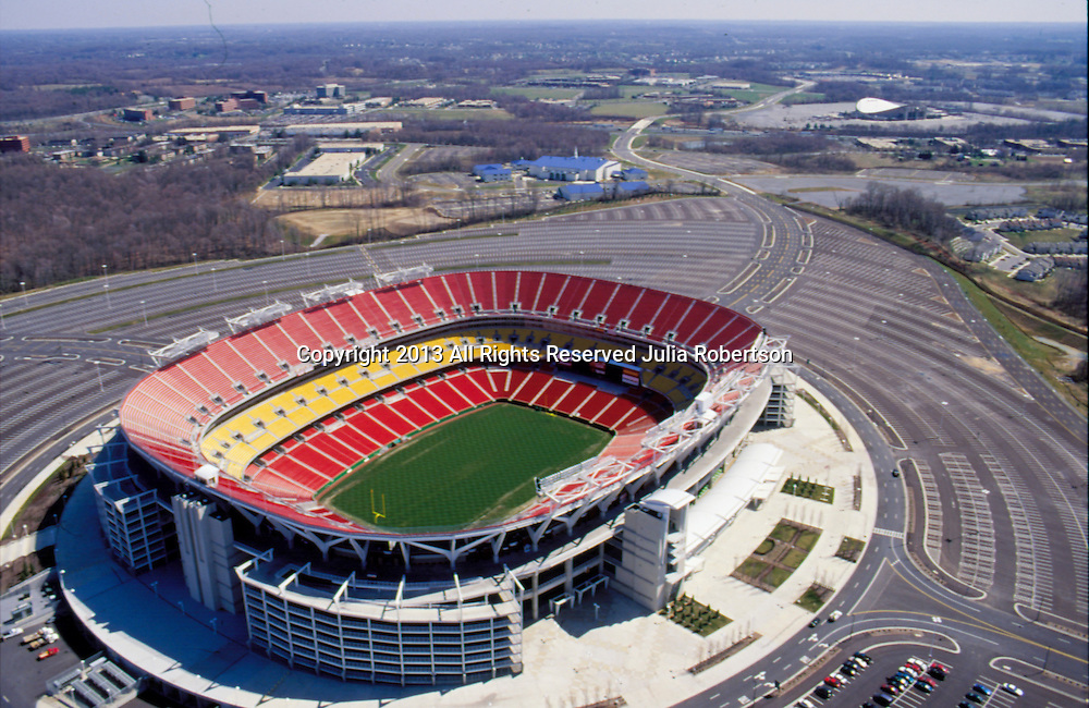 Aerial view of Fed Ex Field, Home of the Washignton Redskins