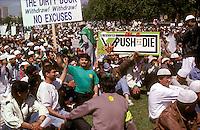 Anti Salmon Rushdie demonstration in Hyde Park.