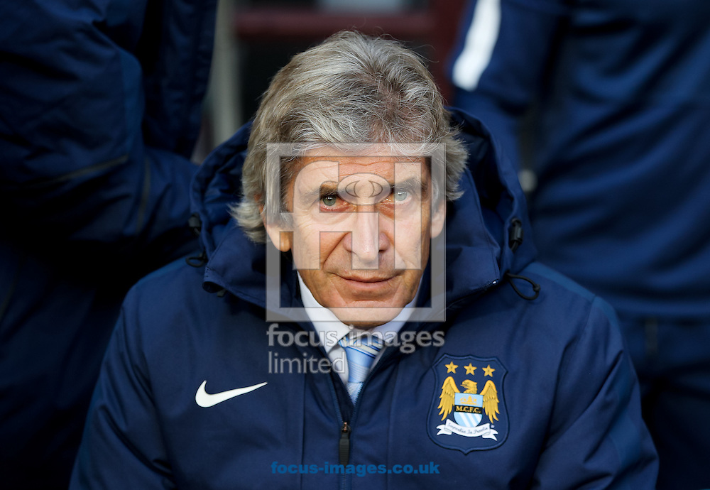 Manchester City manager Manuel Pellegrini before the Barclays Premier League match at Villa Park, Birmingham<br /> Picture by Tom Smith/Focus Images Ltd 07545141164<br /> 04/10/2014