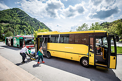 Nomago bus during Team events at Day 4 of 16th Slovenia Open - Thermana Lasko 2019 Table Tennis for the Disabled, on May 11, 2019, in Dvorana Tri Lilije, Lasko, Slovenia. Photo by Vid Ponikvar / Sportida