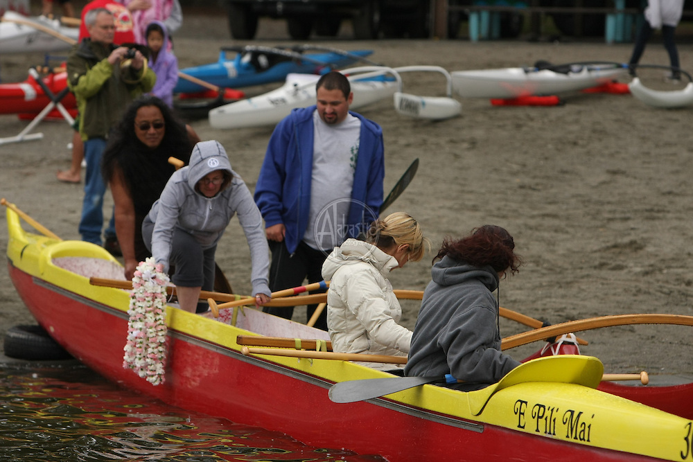 Hui Wa'a O Puget Sound Outrigger Canoe Club memorial for Hal Levinsky.