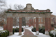 17254Winter Campus During Christmas Holiday: Cutler Hall / Gateway