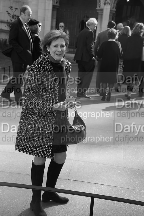 MARJORIE WALLACE, Service of thanksgiving for  Lord Snowdon, St. Margaret's Westminster. London. 7 April 2017