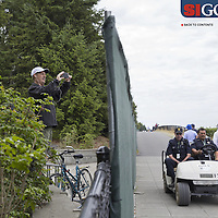 "Neighbors who live across the street from Chambers Bay, home of the 2015 US Open, found ways to view the action without paying for tickets. Photographed for Sports Illustrated's US Open photo essay ""Behind The Open Curtain: Plotting the Course."" 7 of 8"