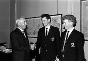 31/7/1964<br /> 7/31/1964<br /> 31 July 1964<br /> <br /> Mr. Dermot Lawlor the Managing director of Bord na Mona wishes bon voyage to Kevin McCormack and Michael Fenelon who represented Ireland at the 13th International Trade Competitions at Lisbon