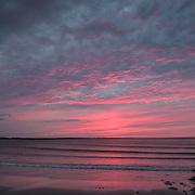 Today's  summer sunrise at Narragansett Town Beach,  .  August  26, 2013.  #401 #sunrise #waves #beach #rhodeisland