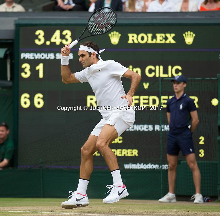 ROGER FEDERER (SUI), Endspiel, Final<br /> <br /> Tennis - Wimbledon 2016 - Grand Slam ITF / ATP / WTA -  AELTC - London -  - Great Britain  - 16 July 2017.