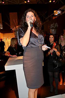 NLD/Amsterdam/20081213 - Jackie's 5th Anniversary Party, zwangere hoofdredactrice Femmetje de Wind