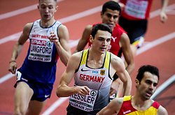 Christoph Kessler of Germany competes in the Men's 800 metres heats on day one of the 2017 European Athletics Indoor Championships at the Kombank Arena on March 3, 2017 in Belgrade, Serbia. Photo by Vid Ponikvar / Sportida