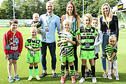 The Mills family during the EFL Sky Bet League 2 match between Forest Green Rovers and Newport County at the New Lawn, Forest Green, United Kingdom on 31 August 2019.