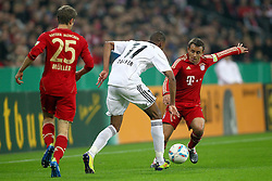 26.10.2011, Allianz Arena, Muenchen, GER, DFB Pokal, 2. Runde, FC Bayern Muenchen vs FC Ingolstadt, im Bild Thomas Mueller (Bayern #25) Collin Quaner (Ingolstadt #11) und Rafinha (Bayern #13)  // during the Pokal fight second Round from GER FC Bayern Muenchen vs FC Ingolstadt , on 2011/10/26, Allianz Arena, Munich, Germany, EXPA Pictures © 2011, PhotoCredit: EXPA/ nph/  Straubmeier       ****** out of GER / CRO  / BEL ******