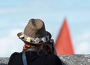 10/08/2014  festival goer photographing a Galway hooker  during the annual Crinniu na mBad Festival. Photo:Andrew Downes