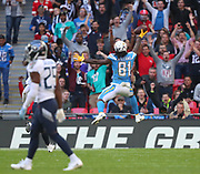 LONDON, ENGLAND - OCTOBER 21: wide receiver Mike Williams (81) of The Chargers scores a touchdown during the NFL game between Tennessee Titans and Los Angeles Chargers at Wembley Stadium on October 21, 2018 in London, United Kingdom. (Photo by Mitchell Gunn/Pro Lens Photo Agency) *** Local Caption *** <br /> Mike Williams