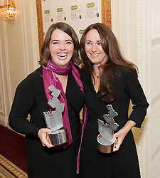 (LtoR) Eowyn Ivey with Rachel Joyce during the Specsavers National Book Awards 2012, Central London, Great Britain, December 4, 2012. Photo by Elliott Franks / i-Images.