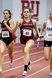 4x400 relay, BC, Leahy<br /> BU Terrier Indoor track meet
