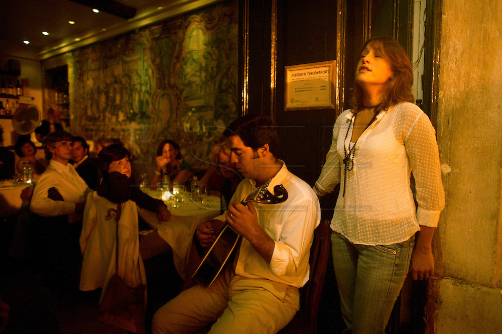 "Singer Carminho performing at restaurant ""Mesa de Frades"", an old chapel in Alfama typical neighborhood"