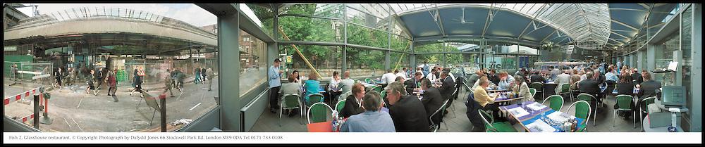 Fish 2. Glasshouse restaurant. © Copyright Photograph by Dafydd Jones 66 Stockwell Park Rd. London SW9 0DA Tel 0171 733 0108