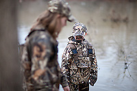 YOUNG DUCK HUNTERS WEARING REALTREE MAX 4 CAMOUFLAGE