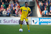 Wimbledon defender Paul Kalambayi (30)  during the EFL Sky Bet League 1 match between Scunthorpe United and AFC Wimbledon at Glanford Park, Scunthorpe, England on 30 March 2019.