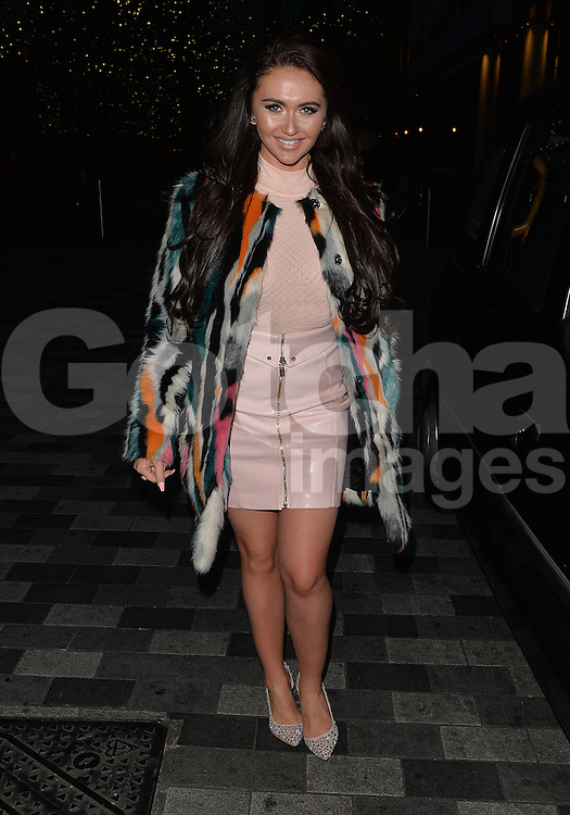 Charlotte Dawson leaving the Ham Yard Hotel driving a black taxi in London, UK. 19/04/2016<br />BYLINE MUST READ : GOTCHAIMAGES.COM<br /><br />Copyright by &copy; Gotcha Images Ltd. All rights reserved.<br />Usage of this image is conditional upon the acceptance <br />of Gotcha Images Ltd, terms and conditions available at<br />www.gotchaimages.com