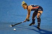 Julia Young of the USA (14) during the Vitality Hockey Women's World Cup 2018 Pool B match between the USA and England at the Lee Valley Hockey and Tennis Centre, QE Olympic Park, United Kingdom on 25 July 2018. Picture by Martin Cole.