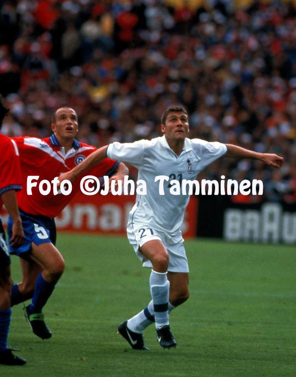 FIFA World Cup - France 1998.Cristian Vieri - Italy.©Juha Tamminen