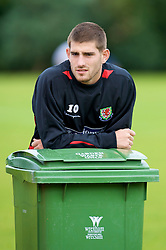 WREXHAM, WALES - Monday, August 18, 2008: Wales' Ched Evans during training at Colliers Park ahead of their UEFA European U21 Championship Group 10 Qualifying match against Romania. (Photo by David Rawcliffe/Propaganda)