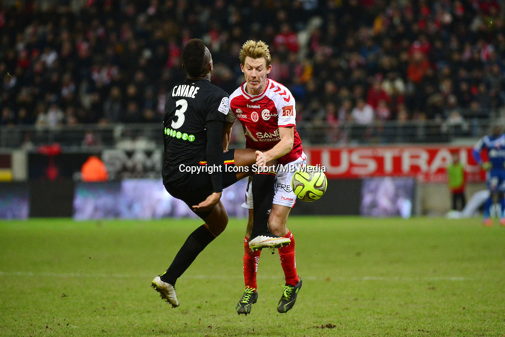 Dimitri CAVARE / Franck SIGNORINO  - 25.01.2015 - Reims / Lens  - 22eme journee de Ligue1<br />