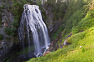 Narada Falls during late Summer in Mount Rainier National Park, Washington State, USA