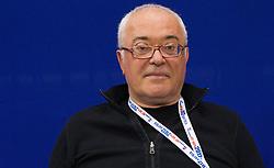 Rudi Cajevec, team  doctor during practice session of Slovenia National Handball team during 10th EHF European Handball Championship Serbia 2012, on January 17, 2012 in Millennium Center, Vrsac, Serbia. (Photo By Vid Ponikvar / Sportida.com)
