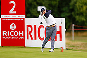 Angel Yin during the Ricoh Women's British Open at Royal Lytham and St Annes Golf Club, Lytham Saint Annes, United Kingdom on 2 August 2018. Picture by Simon Davies.